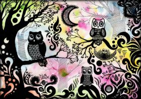 Owl Garden by Bertisha