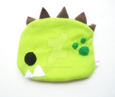 Green Dinosaur Zippered Pouch by CosmiCosmos