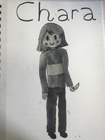 Black and white Chara by Luna748Fire