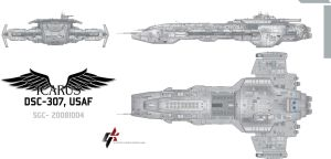 Icarus Class Battlecruiser by Galen82
