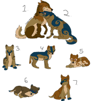 Wolf Family Adopts 2 - CLOSED by YelloAdopts