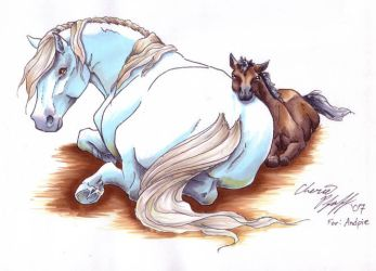 TP sharysaogail resting mare by andpie