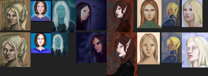 Redone portraits by Ciuva