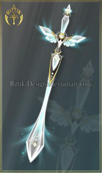 Crystal Wing, sword adopt (CLOSED) by Rittik-Designs