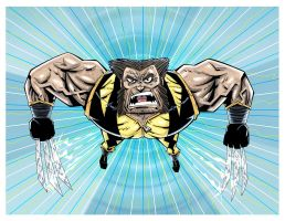 Wolverine Fastball Special by drawhard