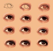 How i draw realistic eye by ryky