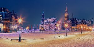 Theatre Square, Dresden by Stefan-Becker