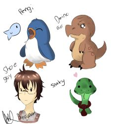Pengi and Deino cast by DinoLover123