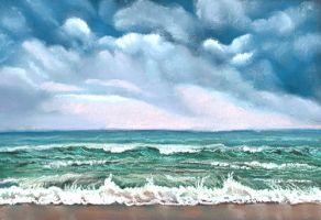 storm on the ocean by classina