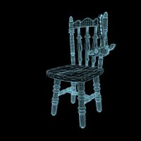 Same chair in wireframe mode by TheSorceressRaven
