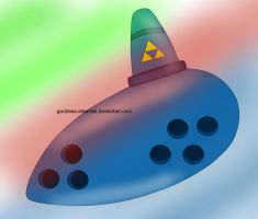 Ocarina of time and the Sacred flames by Goddess-Artemiss