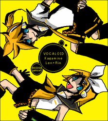 Vocaloid - Kagamine twins by yamcat