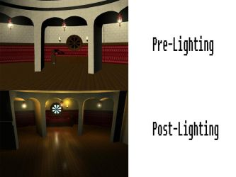 Room Before And After Lighting by clappy452