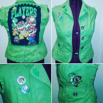 Mario Players Punk Vest by Sew-it-all