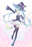 Hatsune Miku Witch by AlinaDieGoAngel