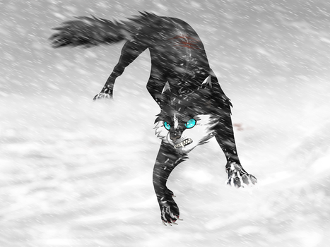In the blizzard by Techno--Raptor