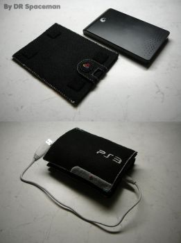 PS3 slim hard-drive felt case by DRSpaceman