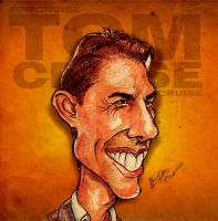 Tom Cruise - Caricature by libran005