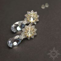 Wedding crystal earrings by Sol89