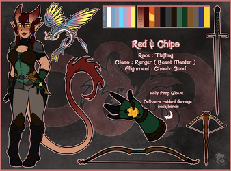 Dungeons and Dragons : Red and Chips by Arofexdracona