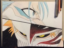 Ichigo vs Grimmjow by TheSassyFox