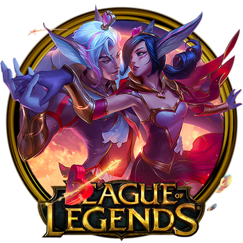 Xayah and Rakan Dock Icon by OutlawNinja