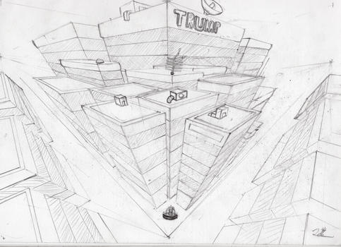 3 point perspective practice by ChromeFlames