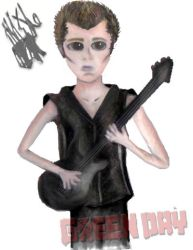 Green Day Cartoon. Mike D by KathyLioncourt