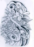 koi fish unfinished by WillemXSM