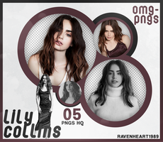 PACK PNG 213 // LILY COLLINS by OMG-PNGS