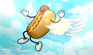 Flying Hotdog by SolarXolverite