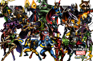 UMVC3 Wallpaper Team Marvel by Hotfeet444