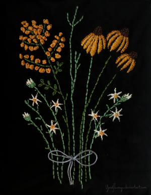 Embroidery Bouquet I by YardFlamingo