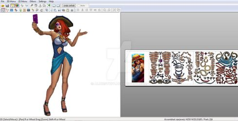PoolParty Miss Fortune - Papercraft model template by alicestuff