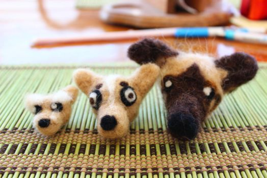 Felted Dogs by Remember2fly1