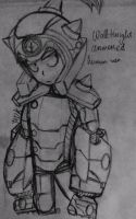 PvZ Heroes-Wall-Knight(armored)human version by CrystiliaLance