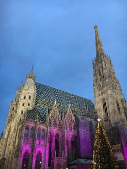 Stephansdom Vienna during Christmas time by little-brujah
