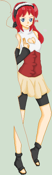 My part of Naruto Female OC Collab by XOPixelRaveOX