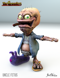 Uncle Fetus - 3d Character Design by JWraith