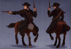 Highwayman centaur by Coldevey