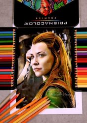 Tauriel from Hobbit - Completed . Prismacolor by Cap007