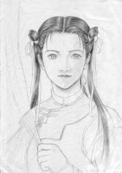 Maiden Pencil Drawing by acory