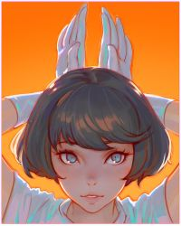 usagi by Kuvshinov-Ilya