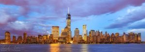 New York WTC Skyline Panorama by Nightline