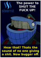 Steemit The Power To STFU by paradigm-shifting