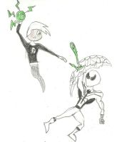 FF Spider-Man VS Danny Phantom by SpiderPotterFan