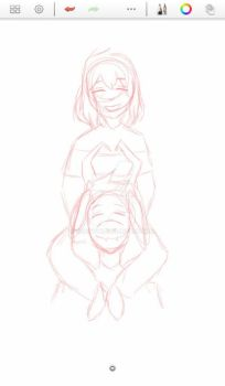 WIP of FriskRiel by MkayBye