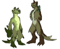 Hork-Bajir Family by TheSleepyMonster