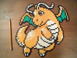 Dragonite Perler Bead Sprite by ThunderThor77