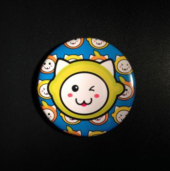 2.5 Fruit Hat Cats Button by ShinigamiSoiree